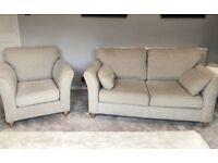 Laura Ashley Armchair and 2 Seat Sofa