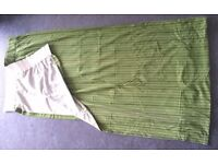 Pair of retro style green curtains