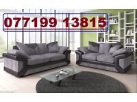 *CLEARANCE SALE - EVERYTHING MUST GO * BLACK AND GREY 3+2 SOFA AVAILABLE - FAST DELIVERY