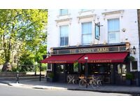 Full Time & Part Time Bar staff / Waiters for busy Chelsea Gastro Pub
