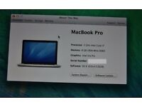 "Apple Macbook Pro Retina 15"" Mid-2013, 2Ghz Intel i7, 8GB RAM, 256GB SSD, Cracked Screen"