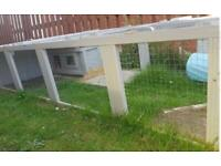 Large 10 Foot Long (can deliver) Rabbit / Guinea Pig Run /Animal Pen + Hutch