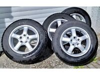 Pirelli Scorpion Ice & Snow winter tyres, OVM alloy wheels 15/65 R16 98T and covers for VW Tiguan