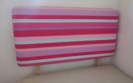 Pink Stripe Single Bed Headboard