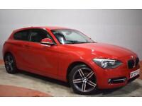 BMW 1 SERIES 116I SPORT 3 Door Hatchback 135 BHP (red) 2012