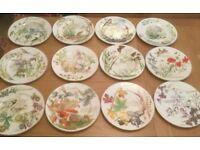Set of 12 Country Diary Decorative Plates