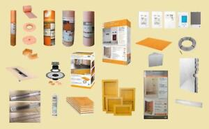 Schluter Nuheat Laticrete Products - Wholesale Contractor Prices - Ditra , Ditra Heat , XL , Kerdi Membrane , Thermostat