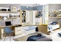 SMART, TEENS' ROOM, STORAGE, NEUTRAL COLOURS, MANY PIECES, MODERN, MODULAR, PRICES START FROM £49!