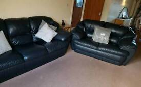Italian Leather Sofas with foot stool