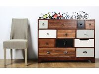 Vintage Multi-Coloured 12 Drawer Chest - New - Free Delivery