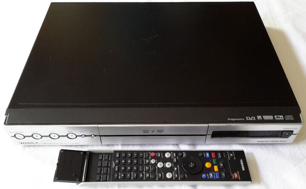 Toshiba dvd recorder hdmi 1080p d-r7 -rw/r rw/r player w/ remote.
