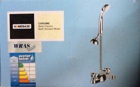 Brand new Homebase Chrome Bath Shower mixer taps