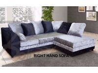 💖💥💖🔥CHEAPEST PRICE GUARANTEED💖💥New Italian Double Padded Dylan Crush Velvet Corner Or 3+2 Sofa