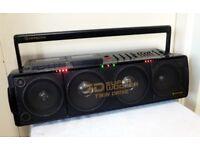 Hitachi 3D Super Woofer,Vintage 1989 Boombox/Ghetto Blaster
