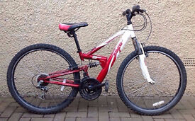unisex 18 speed front,back suspention mountain bike for sale