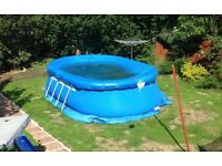 Bestway large 18ft family swimming pool with cover,ground sheet/frames. Packed up ready to collect