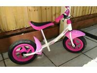 Girls Ketler balance bike
