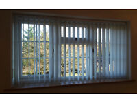 Vertical Blinds, pale grey with pinstripe - 1732w x 945h (68in x 37in)
