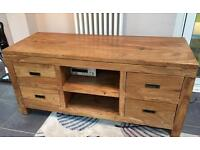 Solid wood TV unit from Nancy smillie