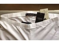 NEXT ¾ LENGTH CROPPED WHITE LEGGINGS SIZE 12 BRAND NEW!