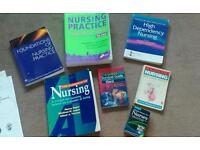 Collection on student Nurse / Nursing degree study course textbooks