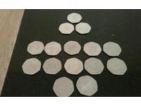 Collectable 50p piece coins