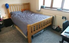 Great Oak Double Bed Frame KING SIZE (150 x 200/5' x 6'6) NO MATTRESS