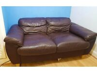 2 Seater Leather Sofa Brown , Welcome You Have It Home!
