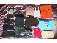 Job Lot 20 Various Women's Bags / Purses Ideal Car Boot Sale Stock. Evening, Clutch, Fun, Wash Bag