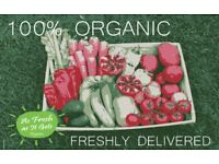 ORGANIC FRUIT & VEGETABLE BOX HAMPER FRESH DELIVERY TO LEICESTERSHIRE