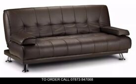 Venice scad Premium Leather Sofabed in 4 colours