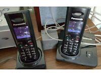 Panasonic TWIN Cordless Home Phone,colour lcd screen,fully working in great condition.
