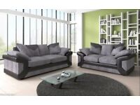 [40%DISCOUNT BRANDNEW]DINO 3SEATER+2 SEATER OR CORNER FABRIC SOFA SUITE IN BLACK GREY OR BROWN CREAM