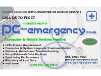 Computer & Mobile Devices Repairs, Screen Replacement, Data Recovery, Broadband Troubleshooting