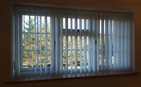 Vertical blinds, 1732mm wide x 945mm high (68in x 37in), good quality and good condition.