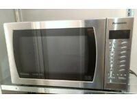 Panasonic Slimline Combi 27L Microwave Oven with Grill (Stainless Steel)
