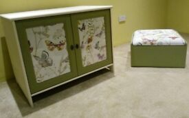 Pine Cabinet and Ducal footstool/storage box - price reduced