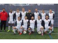1 DEFENDER, and 1 MIDFIELDER NEEDED: South London football team recruiting players.