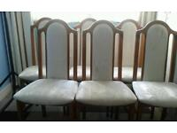 6 solid chairs.