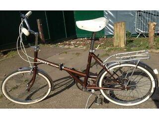 Nice Vintage Classic Kingpin folding Bicycle Unisex bike.3 speed good cycling order