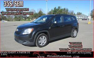 2012 Chevrolet Orlando INSPECTÉ- A1  * 98000KM SEULEMENT * JAMAI