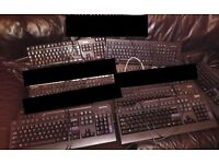 assorted keyboards, quality brands only - USB and PS/2, 5 pounds each, HP, DELL, Microsoft