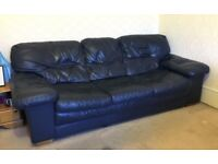 3 Seat Leather Sofa /Settee - FREE