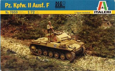 Italeri 1:72 Pz.Kpfw.II Ausf.F Plastic Model Kit 7059U