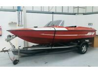 QUICK SALE SPEED BOAT FLETCHER BRAVO & TRAILER, NICE SUMMER PROJECT!