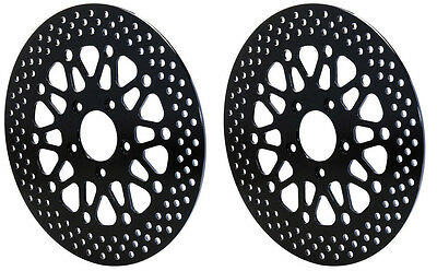 2 - NEW WILWOOD 2008-2014 HARLEY DAVIDSON FRONT MOTORCYCLE BRAKE ROTORS,BLACK