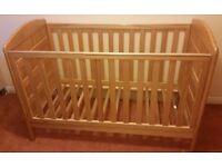 Babylo cot bed and Mamas and Papas mattress