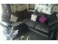 Corner couch grey/black