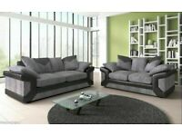 🔰🔰POPULAR CHOICE🔰🔰 DINO JUMBO CORD FABRIC CORNER SOFA SUITE / 3 & 2 SEATER