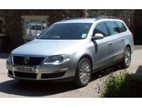2009 09 VW PASSAT HIGHLINE ESTATE 2.0 TDI CR 140ps FSH FULL LEATHER 1 PREV OWNER NEW MOT HPI CLEAR